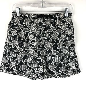 The North Face Black Floral Print Lined Short S